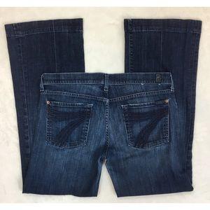 7FAM 7 For All Mankind Dojo Flip Flop Flare Jeans
